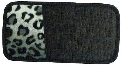 Snow Grey Leopard Animal Print 10 CD/DVD Car Visor Organizer