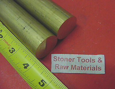 """2 Pieces 1-1/8"""" C360 BRASS SOLID ROUND ROD 4"""" long 1.125"""" H02 Lathe Bar Stock"""
