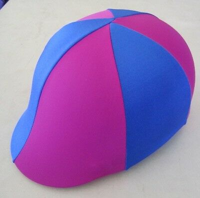 Horse Helmet Cover ALL AUSTRALIAN MADE Hot pink & Royal blue Any size you need
