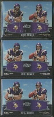 2011 Topps Prime Dual #RP Kyle Rudolph Christian Ponder Lot of 3 B66772