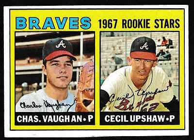 1967 Topps #179 Braves Rookies Charley Vaughan-Cecil Upshaw RC ۩EX/MT۩ *002