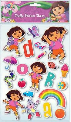 Children's Dora The Explorer Padded Stickers Decoration Birthday Party Bags Gift
