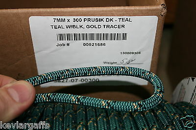 7mm X 50 FEET New England Teufelberger Prusik Cord rope Green color
