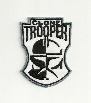 Star Wars Clone Trooper Mask Logo Embroidered Patch, NEW UNUSED