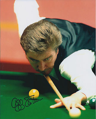 Cliff THORBURN SIGNED 12x8 Photo Autograph COA AFTAL World SNOOKER Champion 147