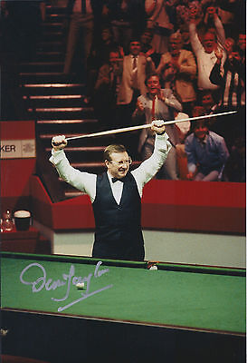 Dennis TAYLOR SIGNED 12x8 Photo Autograph COA AFTAL 1985 World SNOOKER Champion