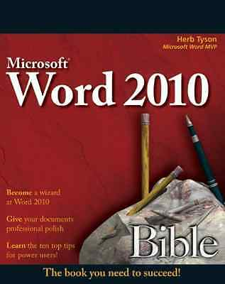 Word 2010 Bible - Paperback NEW Tyson, Herb 2010-05-11