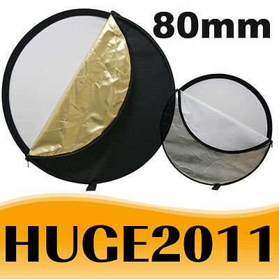 """80cm 5 in 1 Pro Photo Photography Light Mulit Collapsible Disc Reflector 32"""" AU"""