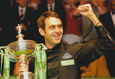 Ronnie O'SULLIVAN SIGNED 12x8 Photo Autograph COA AFTAL Snooker MASTERS Winner