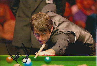 Ronnie O'SULLIVAN SIGNED 12x8 Photo Autograph COA AFTAL CHINA OPEN Winner
