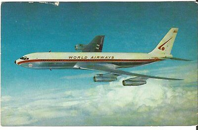 Cp Avion Boeing 707 World Airways Intercontinental Jetliner