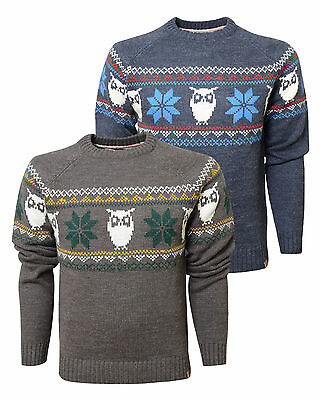 NEW BNWT Tokyo Laundry Yuletide Christmas Reindeer Pull Over Knitted Crew Neck J