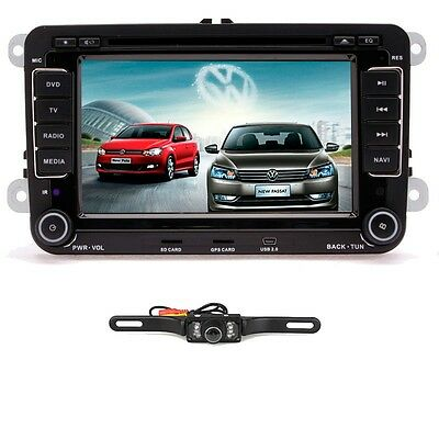 "Free Camera+VW Passat Jetta Golf Touran Car GPS 7""HD LCD Stereo 2DIN DVD Player"