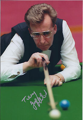 Terry GRIFFITHS SIGNED Autograph 12x8 Photo AFTAL COA SNOOKER CRUCIBLE Champion