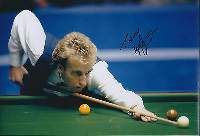 Terry GRIFFITHS SIGNED Autograph 12x8 Photo AFTAL COA 1979 SNOOKER CHAMPION