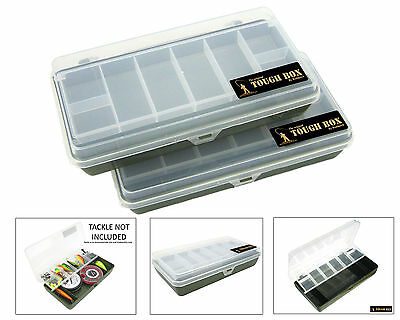 2 Cantilever Fishing Tackle Box Fishing Plugs Lures Spinners Hooks Bits Box