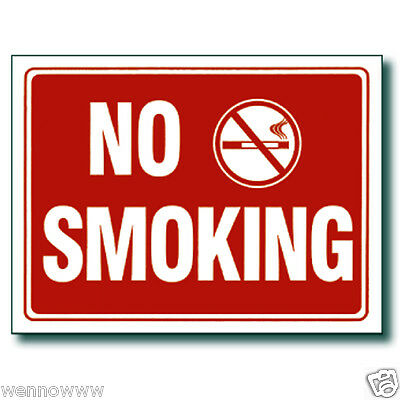 "2 Pcs 9 x 12 Inch Red & White Flexible Plastic "" No Smoking "" Sign"