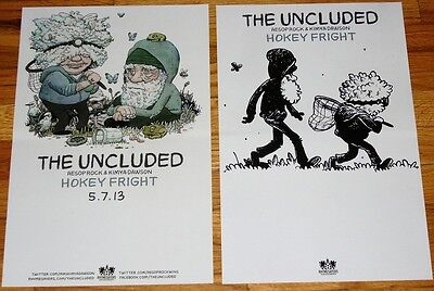 The Uncluded DOUBLE SIDED POSTER Aesop Rock Kimya Dawson Hokey Fright tour
