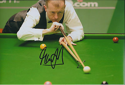 Steve DAVIS AUTOGRAPH 12x8 Signed Photo AFTAL COA SNOOKER Asian OPEN Winner