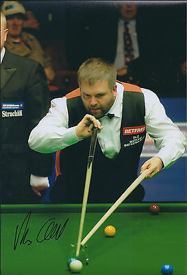 Marcus CAMPBELL AUTOGRAPH 12x8 Signed Photo AFTAL COA SNOOKER Crucible