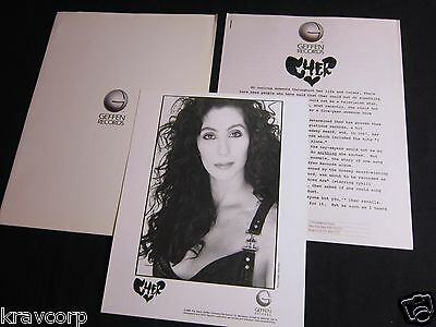 Cher 'Heart Of Stone' 1989 Press Kit--Photo