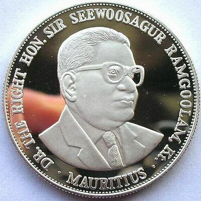 Mauritius 1978 Independence 25 Rupees Silver Coin,Proof