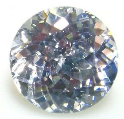 Top 8 mm Fancy Double Round Brillant White Created Sapphire