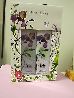Crabtree Evelyn  Iris Shower Gel + Body Lotion Duo Full Size Each~~New In Box