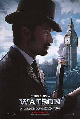 SHERLOCK HOLMES: GAME OF SHADOWS - 2011 Orig 27x40 Movie Poster- Adv of JUDE LAW