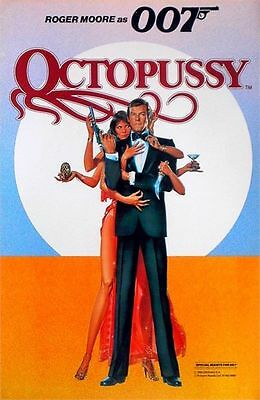 OCTOPUSSY 1983 Roger Moore JAMES BOND UK 20x13 POSTER