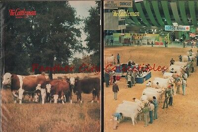April March 1976 The Cattleman Lot of 2 Magazines Fort Worth Texas Texana