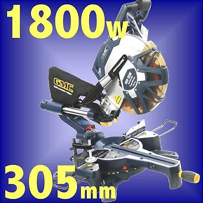GMC DB305SMS 1800w 305mm LASER SLIDING DOUBLE BEVEL COMPOUND MITRE TABLE SAW