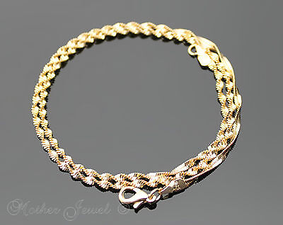 Beautiful 40Cm 2Mm Twist 9K Rose Gold Gp Chain Ladies Mens Girls Boys Necklace