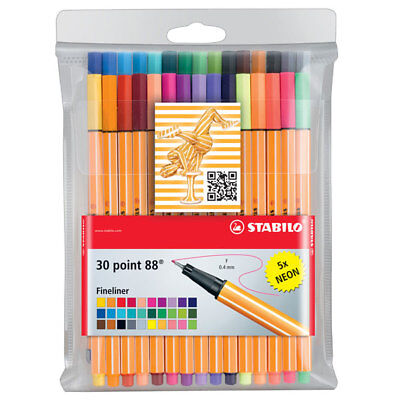 Stabilo Point 88 - Fineliner - 30Er Set (Standardfarben/neonfarben)