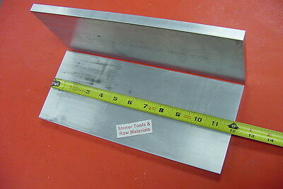 "2 Pieces 1/2"" X 5"" ALUMINUM 6061 FLAT BAR 12"" long T6511 Plate Mill Stock Solid"