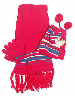 Child / Kid Knit Hat Scarf and Gloves Set for Winter Wear Great Gift