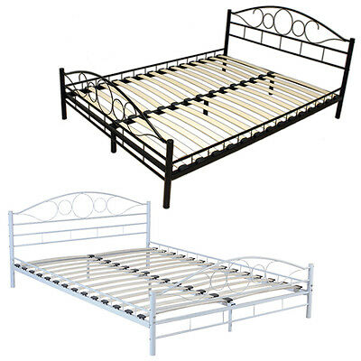 metallbett malta lattenrost bettgestell doppelbett bettrahmen metall bett. Black Bedroom Furniture Sets. Home Design Ideas