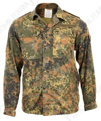 Original German Army Flecktarn Shirt - Military Surplus Camo Field Grade 1