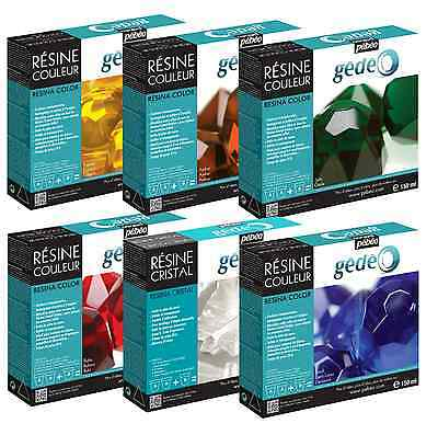 PEBEO GEDEO COLOUR CRYSTAL RESIN IMITATES GLASS PASTE SOLID & TRANSPARENT 150ml