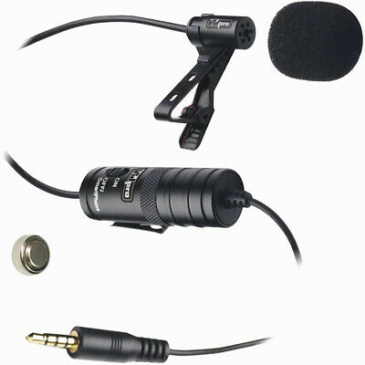 Vidpro Lavalier Lapel Condenser Microphone for DSLRs Camcorders & Video Cameras