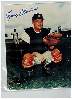 JOHNNY BLANCHARD-signed NEW YORK YANKEES  Photo 8x10=COA