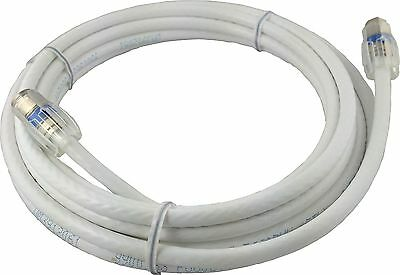 Coaxial Cable, Satellite Jumper Cord With Easy Twist Connector 15' White RG6