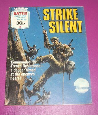 #1629 Battle Picture Library  STRIKE SILENT  -  1980's