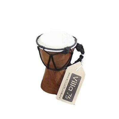 12cm Bongo / Djembre Drum, Goat Skin Hyde Mahogony Wood Great Value!!