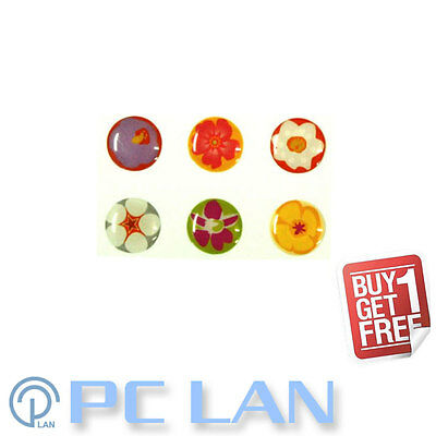 6 PCS Flower Pattern 2 Home Button Sticker for iPhone 3G/3GS/4/4S + Bonus Set