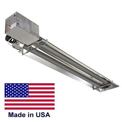COMPACT Infrared TUBE HEATER Commercial - 45,000 BTU - Natural Gas - 9 Ft - 120V