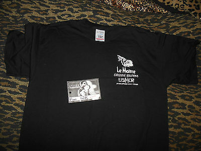 Usher Evolution 8701 Tour La Maitre Crew PROMO T-SHIRT & Backstage Pass
