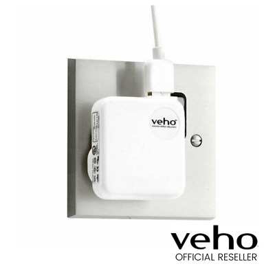 New Veho Mains Usb Charger For Usb Charged Devices White Vaa-003-Wht