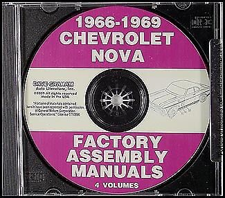 1966 1967 1968 1969 Nova and Chevy II Assembly Manual CD Chevrolet Factory SS