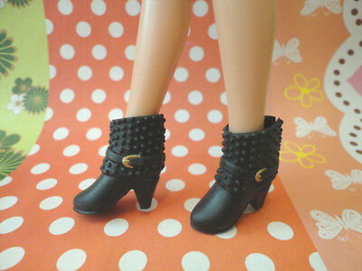 Doll Shoes~ Fashion Black Ankle boot 1pair-LIV/Poppy Parker/Azone Pure Neemo